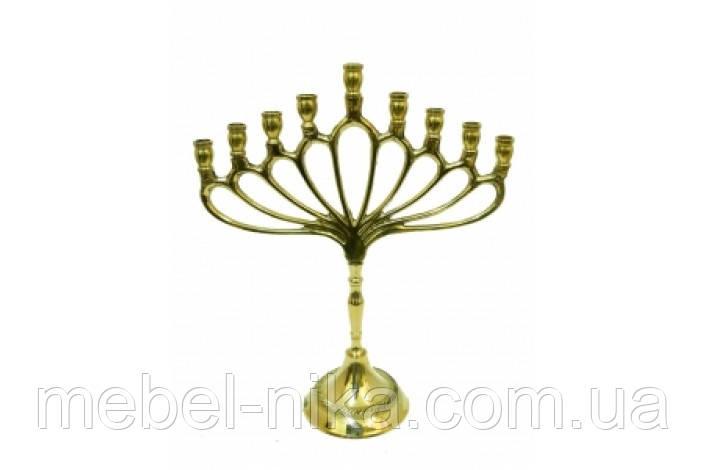 Подсвечник латунный на 9 свечей, 24см (ФА-пл-83)