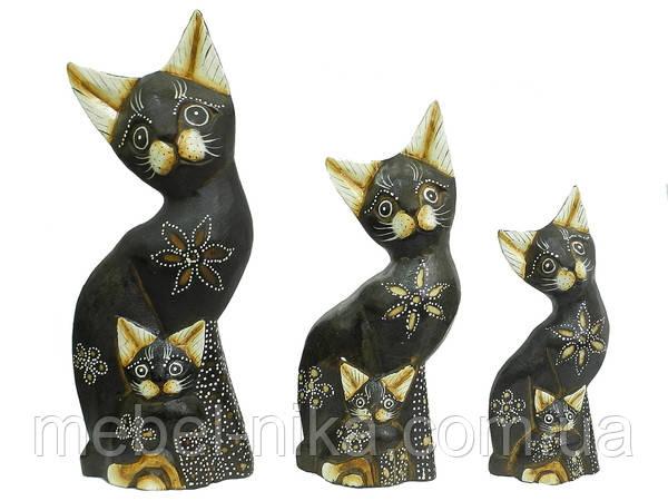 Семья котов с котятами, 4 цвета (кн-160, кн-161, кн-162)