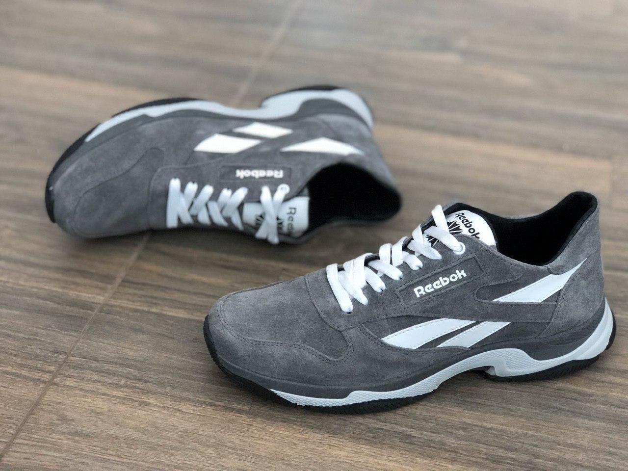 Шкіряні+замша чоловічі кросівки R 16 сер розміри 41,42