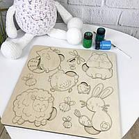 Деревянный сортер для детского развития «Забавные животные», фото 1