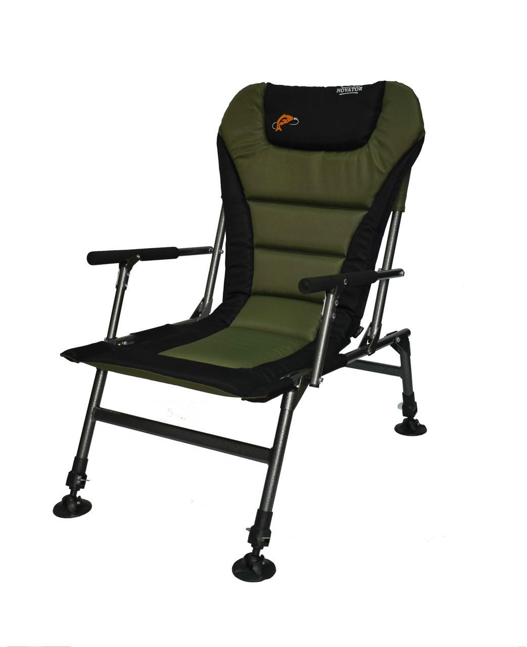 Карповое кресло для рыбалки с регулируемыми ножками Novator SF-1 Comfort