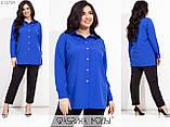 Брючний костюм жіночий Блуза і брюки Супер софт Розмір 48 50 52 54 56 58 60 62 В наявності 6 кольорів, фото 2