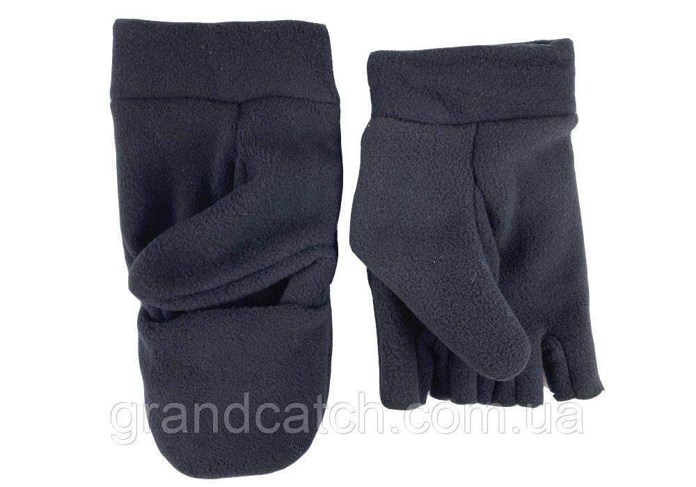 Перчатки-варежки флис Черные