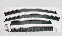 Дефлекторы окон (ветровики) с хром полосой (кантом-молдингом) Mercedes-benz gla-class x156 мерседес-бенц 2013+