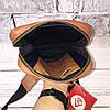 Мужская кожаная сумка Vittorio Safino барсетка, планшетка через плечо из натуральной кожи, Синяя VS 004, фото 6