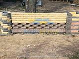 Цегла для паркану напівкругла, скеля, фото 9