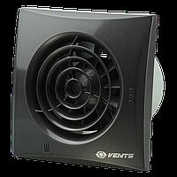 Вентилятор бытовой Вентс 125 Квайт черный сапфир лак RAL 9005