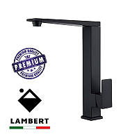 Смеситель для кухни из нержавеющей стали Lambert Kit LR3003B черный Foam