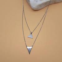 Подвеска геометрической формы Стальной треугольник 48 см 175619