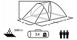 Палатка туристическая Presto Furan 3, проклеенные швы, 3500 мм (туристичний намет), фото 5