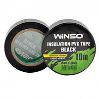 Изолента WINSO ПВХ чёрная 10 м; 19 мм; 130 мк (10/300шт) 152100