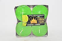 Свічка Джамбо Арома (о57 х 23 мм) 4 шт лимон лайм