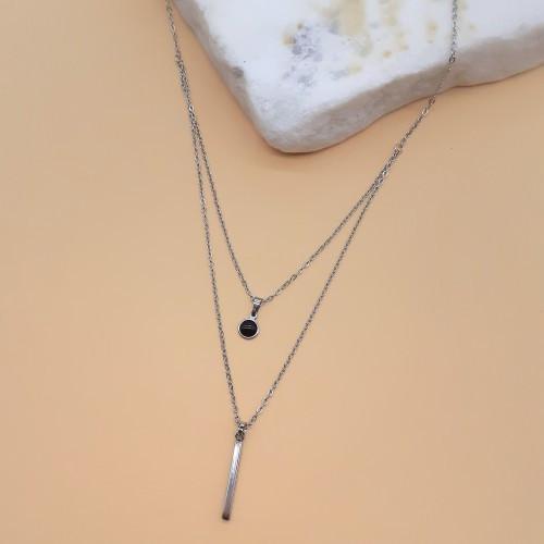 Підвіска з кількох ланцюжків сталева Астарта 48 см 175624
