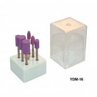 Насадка для фрезера 6шт в наборе (камень/розовый/белый)