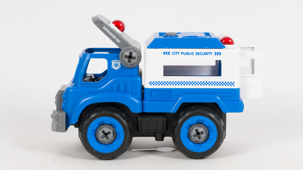 Машина конструктор полиция Play Smart. 1358. 31 деталь. Звуковые эффекты