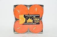 Свічка Джамбо Арома (о57 х 23 мм) 4 шт апельсиновий фреш