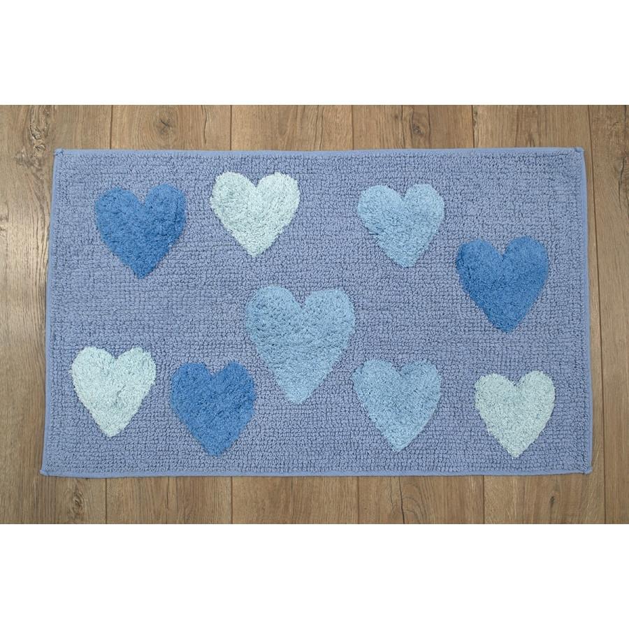 Килимок Irya - Hearts 50*80 blue