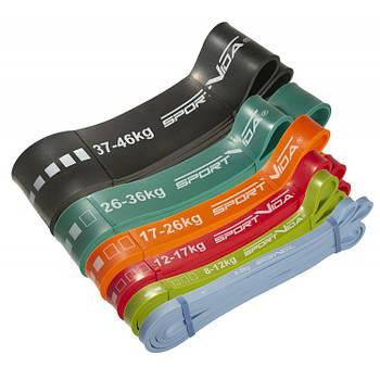 Набір гуми для фітнесу SportVida Power Band 104 см (6 шт)