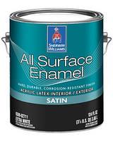 ЭМАЛЬ ALL SURFACE ENAMEL LATEX BASE SATIN (Полуматовая), (Extra White, Deep, Ultradeep), Sherwin Williams