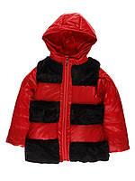 Куртка осіння з жилеткою дівчинка червона