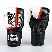Перчатки боксерские кожаные LONSDALE XPEED на липучке 10 ун, фото 1