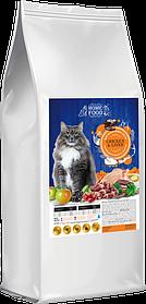 Сухой корм для взрослых привередливых котов   HOME FOOD CHICKEN & liVER 3кг