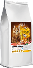 Сухой корм для взрослых котов крупных пород  HOME FOOD  индейка-креветка+хондро 10кг