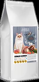 Сухой корм для взрослых котов  HOME FOOD ягненок с лососем и печеным яблоком 10кг