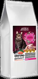 Сухой корм для взрослых кошек  HOME FOOD Индейка-лосось, 3 кг.