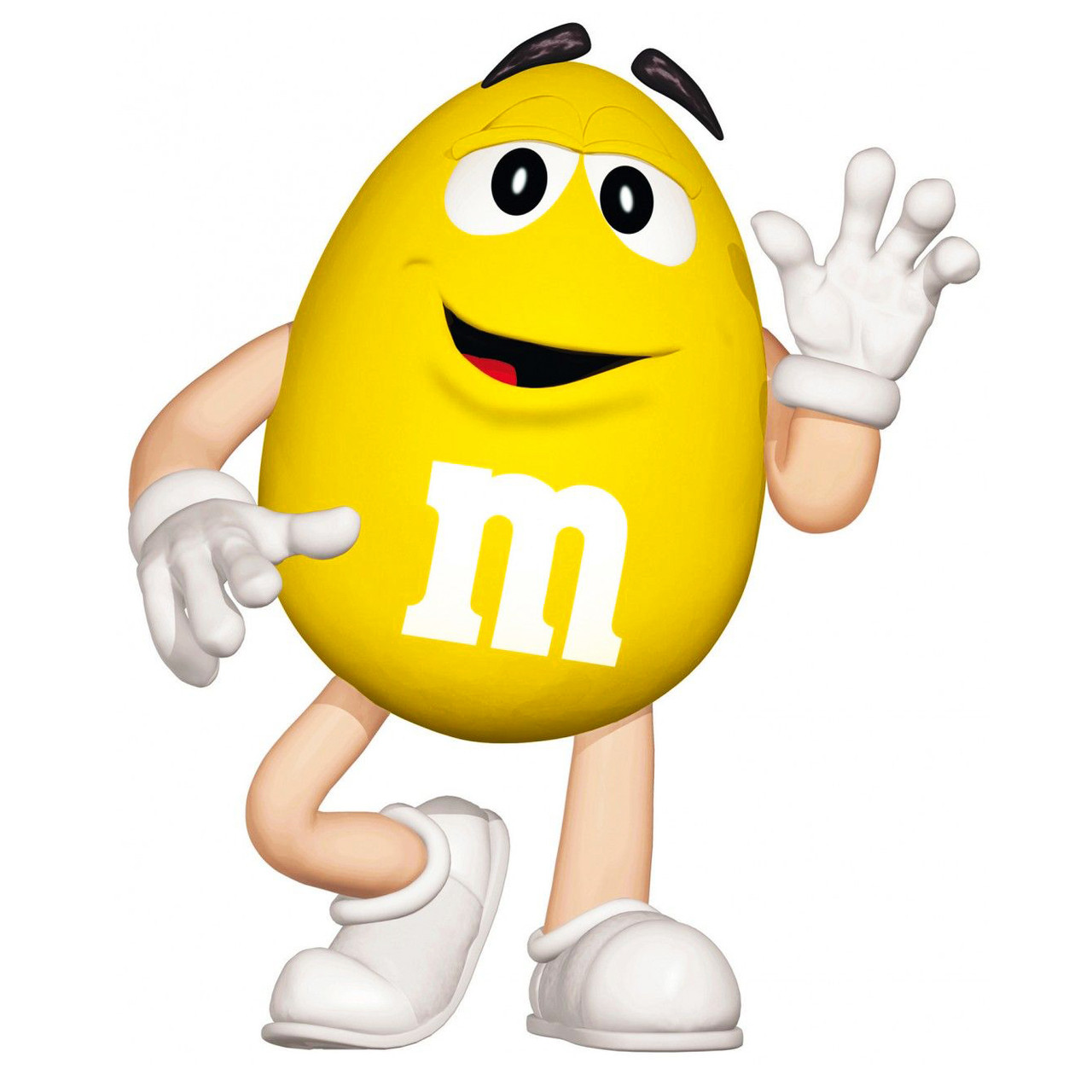 """Наклейка на шар 18"""" M&M's желтый"""