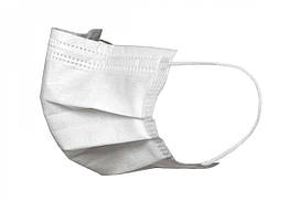 Одноразовая защитная маска на лицо 3-х слойная