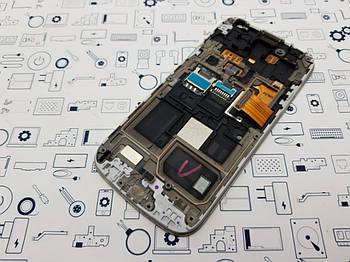 Уценка Дисплей Samsung S4 Mini i9192 модуль белый Сервисный оригинал с разборки