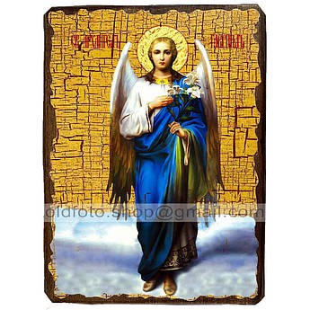 Икона Архангел Гавриил ,икона на дереве 130х170 мм