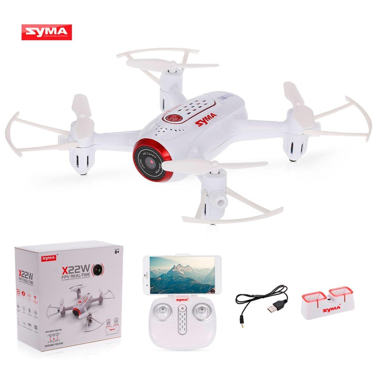 Квадрокоптер белый SYMA X22W WIFI FPV