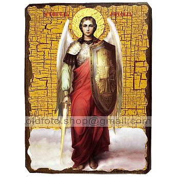 Икона Архангел Михаил ,икона на дереве 130х170 мм
