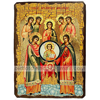 Икона Собор архистратига Михаила ,икона на дереве 130х170 мм