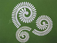 Шаблон пластиковый для создания бантика Цветок