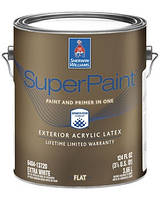 КРАСКА SUPERPAINT EXTERIOR FLAT (Глубокоматовая), Extra White, Sherwin Williams, (3,78 л)