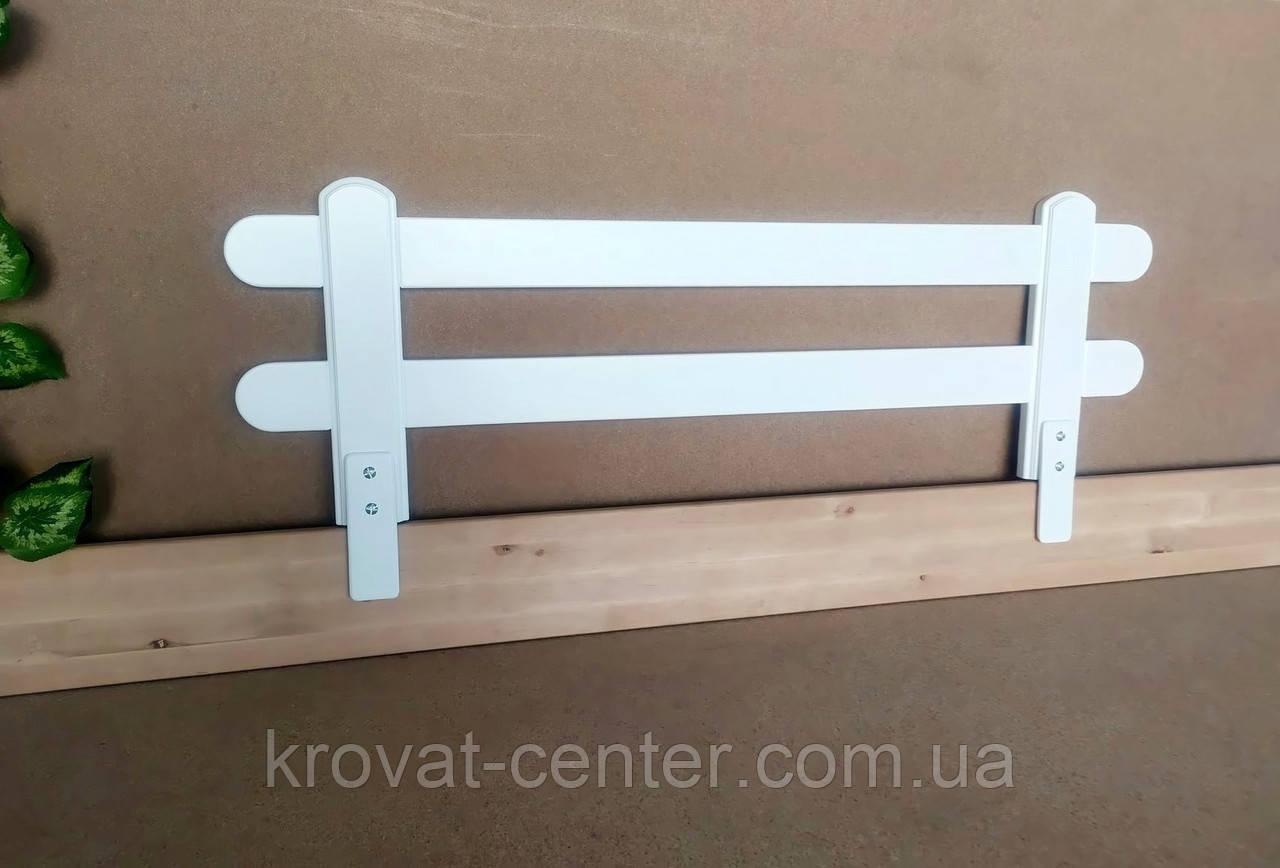 """Белый защитный бортик для детской кровати """"Масу"""" 116 см."""
