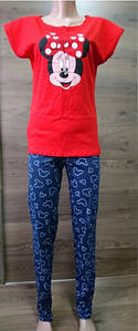 Пижама женская футболка со штанами Мини-Маус 42-52 р красно-синего цвета