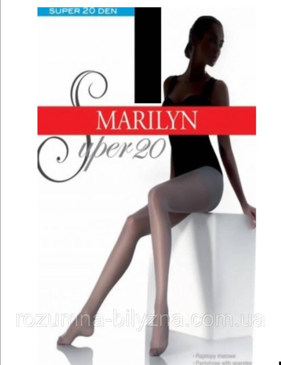 Колготи в кольорі glace 20 den TM Marilyn розмір 5, 2,3,4