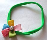 Повязка на голову детская тонкая с цветочком 3 шт, фото 4