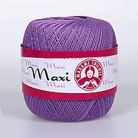 100% мерсеризованный хлопок(100г/565м)Madam Tricote Maxi 6309(сирень)