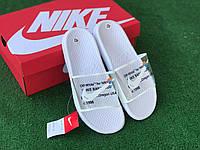 Сланцы/шлепки Nike Off-White(белые)/ шлепки/ тапки найк/шлепанцы/тапочки