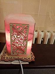 Соляной светильник Прямоугольный с нашивкой 1