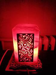 Соляной светильник Прямоугольный с нашивкой 2