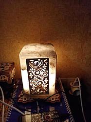 Соляной светильник Прямоугольный с нашивкой 3