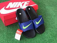 Сланцы/шлепки Nike(синие))/ шлепки/ тапки найк/шлепанцы/тапочки 45