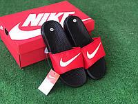 Сланцы/шлепки Nike(красные)/ шлепки/ тапки найк/шлепанцы/тапочки 44