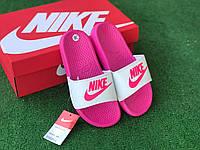 Сланцы/шлепки Nike женские(бело-розовые)/ шлепки/ тапки найк/шлепанцы/тапочки 40